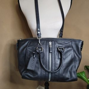 Milly Large Black Leather Satchel